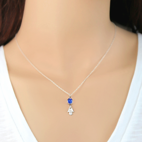Sterling Silver Personalized Hamsa Necklace