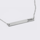 Sterling Silver Personalized Name Bar Necklace