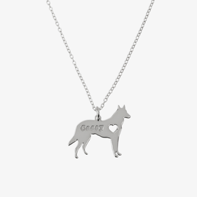 Sterling Silver Personalized Pet Charm Necklace