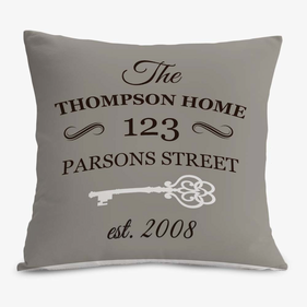 Street Address Custom Decorative Cushion Cover