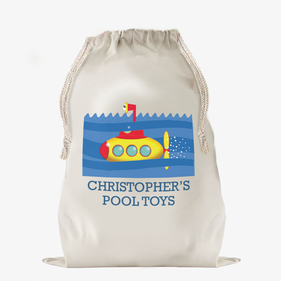 Submarine Personalized Large Drawstring Sack