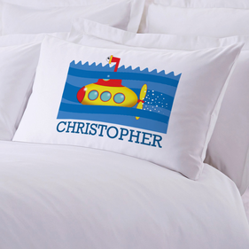 Submarine Personalized Kids Pillowcase