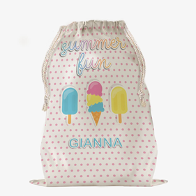 Summer Fun Large Custom Drawstring Sack