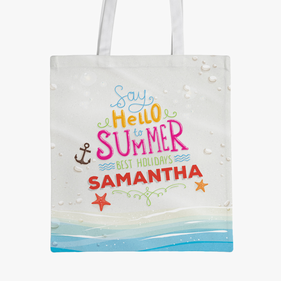 Summer Holidays Custom Tote Bag