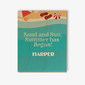 Summer Sand and Sun Customized Wood Wall Art