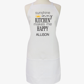 Sunshine In My Kitchen Custom Adult Apron