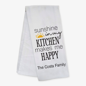 Sunshine In My Kitchen Custom Bar Towel