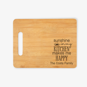 Sunshine In My Kitchen Custom Wooden Cutting Board
