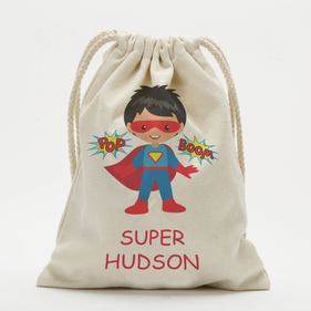 Exclusive Sale - NOT available for any promotion - Super Hero Customized Character Drawstring Sack