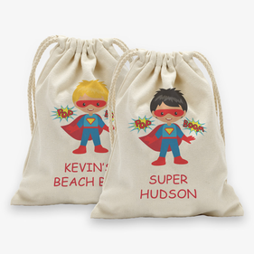 Super Hero Customized Character Drawstring Sack