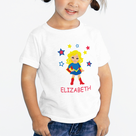 Supergirl Personalized Character T-Shirt