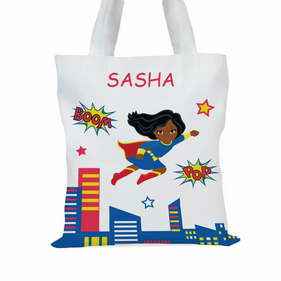 Super Hero Personalized Character Tote Bag