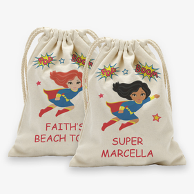 Supergirl Personalized Character Drawstring Sack