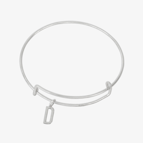 Personalized Initial Silver Bangle
