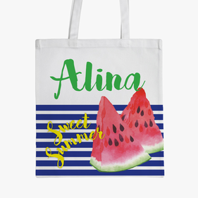 Sweet Summer Personalized Kids Tote Bag