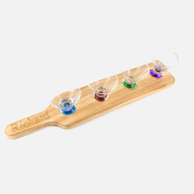 Personalized Tasting Set w/ Wood Holder