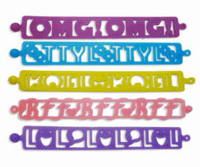 "Tattoo Bandz Bracelets ""Texting"" 5 packs"