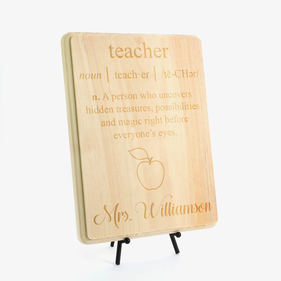 Teacher's Essence Personalized Wood Plaque