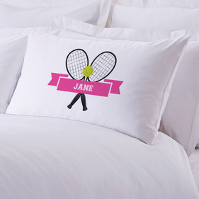 Tennis Personalized Sports Pillowcase