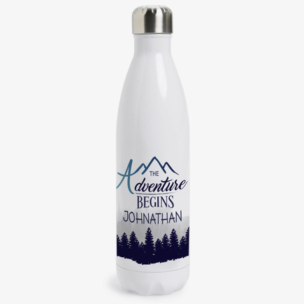 The Adventure Begins Custom Insulated Beverage Bottle