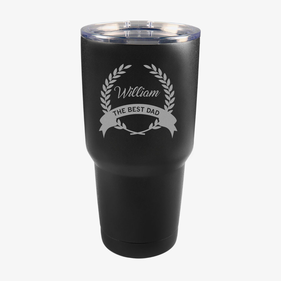 The Best Dad Custom Vacuum Insulated Tumbler w/Clear Lid