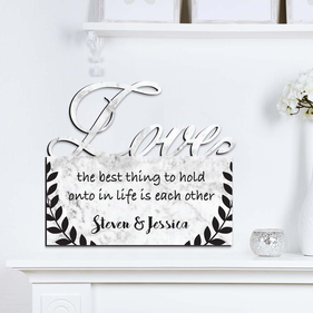 The Best Thing Personalized Love Wall Sign