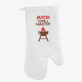 The Grill Master Personalized Oven Mitt