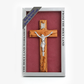 The Holy Land Workshop Olivewood Crucifix Wood Cross
