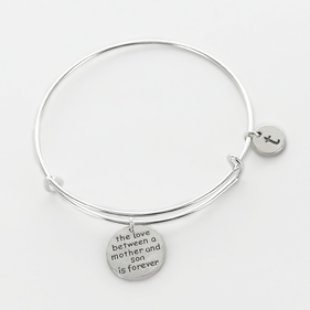 The Love Between A Mother And Her Son Personalized Bangle