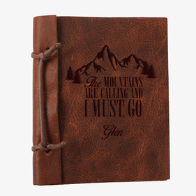 The Mountains Are Calling Custom Leather Journal