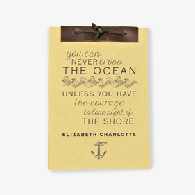 The Ocean Antique Style Personalized Notebook
