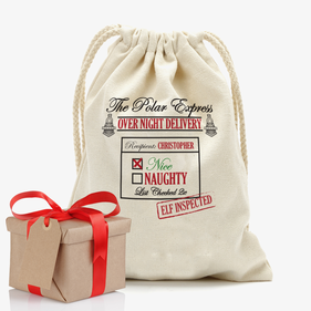The Polar Express Personalized Drawstring Sack