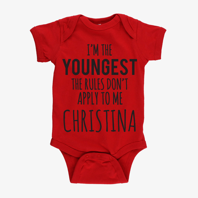 New for babies monogram online the rules personalized baby short sleeve one piece bodysuit negle Images