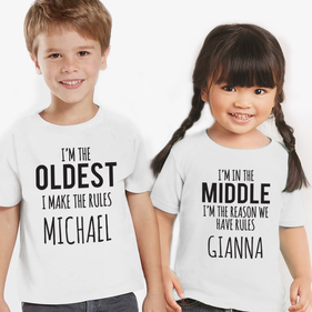 The Rules Personalized Kids T-Shirt