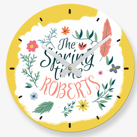 The Spring Time Custom Wall Clock