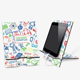 Think Bright Personalized Book and Ipad Stand
