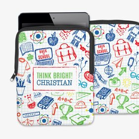 Think Bright Personalized Book iPad/Tablet/Laptop Sleeve