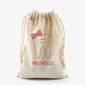 Tooth Fairy Personalized Mini Essential Drawstring Sack