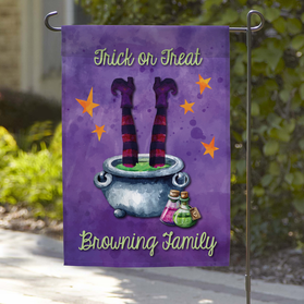 Trick Or Treat Personalized Garden Flag