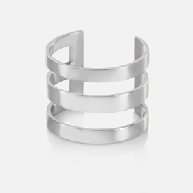 Sterling Silver Triple Strap Backless Ring