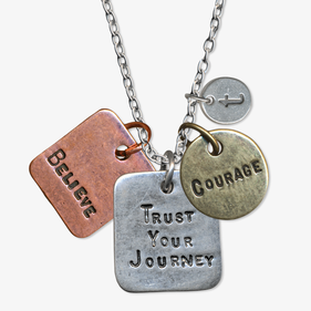 Trust Your Journey Custom Charm Necklace