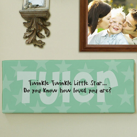 Twinkle Twinkle... Personalized Baby Wall Canvas
