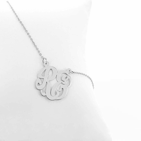 Two Initial Necklace in Silver