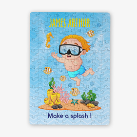 Personalized Under The Sea Kids Puzzle / 80 Pieces