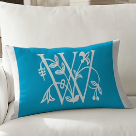 Vine Initial Personalized Lumbar Pillowcase