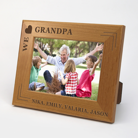 We Heart Grandpa Wooden Custom Picture Frame
