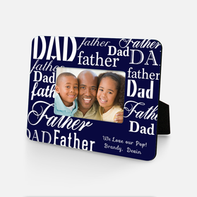 We Love Our Pop Personalized Father's Picture Frame