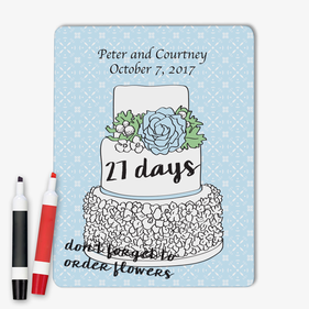 Wedding Day Countdown Custom Dry Erase Memo Board