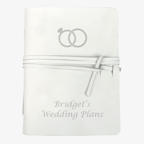 Wedding Rings Custom Genuine Leather Wrap Journal