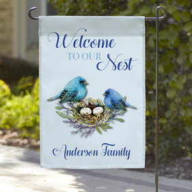 Welcome To Our Nest Custom Garden Flag